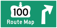 HWY 100 #2 ROUTE MAP - © Cameron Bevers