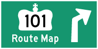 HWY 101 ROUTE MAP - © Cameron Bevers
