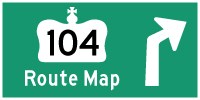 HWY 104 ROUTE MAP - © Cameron Bevers