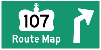 HWY 107 ROUTE MAP - © Cameron Bevers