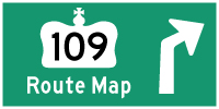 HYPERLINK TO HWY 109 ROUTE MAP PAGE - © Cameron Bevers