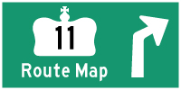 HWY 11 ROUTE MAP - © Cameron Bevers