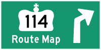 HWY 114 ROUTE MAP - © Cameron Bevers