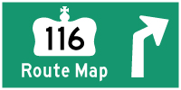 HYPERLINK TO HWY 116 ROUTE MAP PAGE - © Cameron Bevers