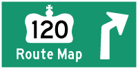 HWY 120 ROUTE MAP - © Cameron Bevers