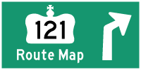 HWY 121 ROUTE MAP - © Cameron Bevers