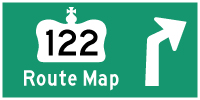 HWY 122 ROUTE MAP - © Cameron Bevers