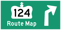 HWY 124 ROUTE MAP - © Cameron Bevers