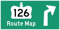 HWY 126 ROUTE MAP - © Cameron Bevers