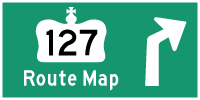 HWY 127 ROUTE MAP - © Cameron Bevers