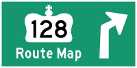 HWY 128 ROUTE MAP - © Cameron Bevers