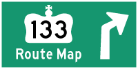 HWY 133 #1 ROUTE MAP - © Cameron Bevers