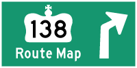 HWY 138 ROUTE MAP - © Cameron Bevers