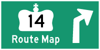 HWY 14 ROUTE MAP - © Cameron Bevers