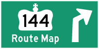 HWY 144 ROUTE MAP - © Cameron Bevers