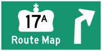 HWY 17A KENORA ROUTE MAP - © Cameron Bevers