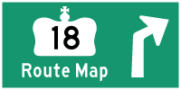 HWY 18 ROUTE MAP - © Cameron Bevers