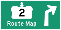 HWY 2 ROUTE MAP - © Cameron Bevers