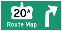 HWY 20A UPPER MOUNTAIN HIGHWAY ROUTE MAP - &#169; Cameron Bevers