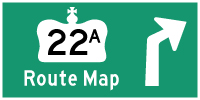 HYPERLINK TO HWY 22A ROUTE MAP PAGE - © Cameron Bevers