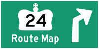 HWY 24 ROUTE MAP - © Cameron Bevers