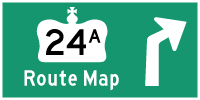 HWY 24A ROUTE MAP - © Cameron Bevers