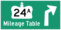 HWY 24A MILEAGE TABLE - © Cameron Bevers