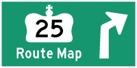 HWY 25 ROUTE MAP - © Cameron Bevers