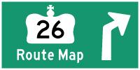 HWY 26 ROUTE MAP - © Cameron Bevers