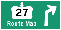 HWY 27 ROUTE MAP - © Cameron Bevers