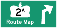 HWY 2A ALT LONDON ROUTE MAP - © Cameron Bevers