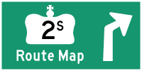 HWY 2S ROUTE MAP - © Cameron Bevers