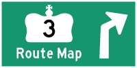 HWY 3 ROUTE MAP - © Cameron Bevers
