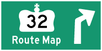 HWY 32 ROUTE MAP - © Cameron Bevers