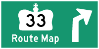 HYPERLINK TO HWY 33 ROUTE MAP PAGE - © Cameron Bevers