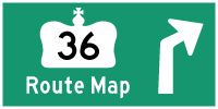 HWY 36 ROUTE MAP - © Cameron Bevers