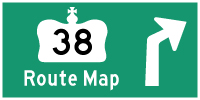 HWY 38 ROUTE MAP - © Cameron Bevers