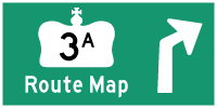 HWY 3A WINDSOR ROUTE MAP - &#169; Cameron Bevers