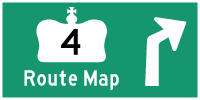 HWY 4 ROUTE MAP - © Cameron Bevers