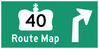 HWY 40 ROUTE MAP - © Cameron Bevers