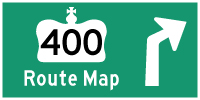 HYPERLINK TO HWY 400 ROUTE MAP PAGE - © Cameron Bevers