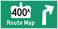 HWY 400A ROUTE MAP - © Cameron Bevers