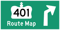 HWY 401 ROUTE MAP - © Cameron Bevers