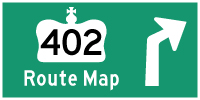 HYPERLINK TO HWY 402 ROUTE MAP PAGE - © Cameron Bevers