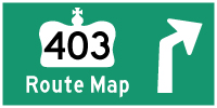 HWY 403 ROUTE MAP - © Cameron Bevers