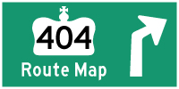 HWY 404 ROUTE MAP - © Cameron Bevers