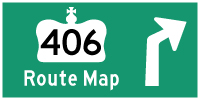 HWY 406 ROUTE MAP - © Cameron Bevers