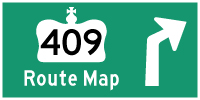 HWY 409 ROUTE MAP - © Cameron Bevers