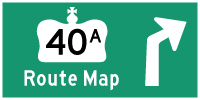 HWY 40A ROUTE MAP - © Cameron Bevers