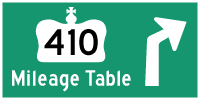 HYPERLINK TO HWY 410 MILEAGE TABLE PAGE - © Cameron Bevers